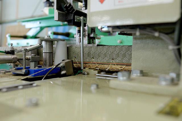 自社畳製造工場